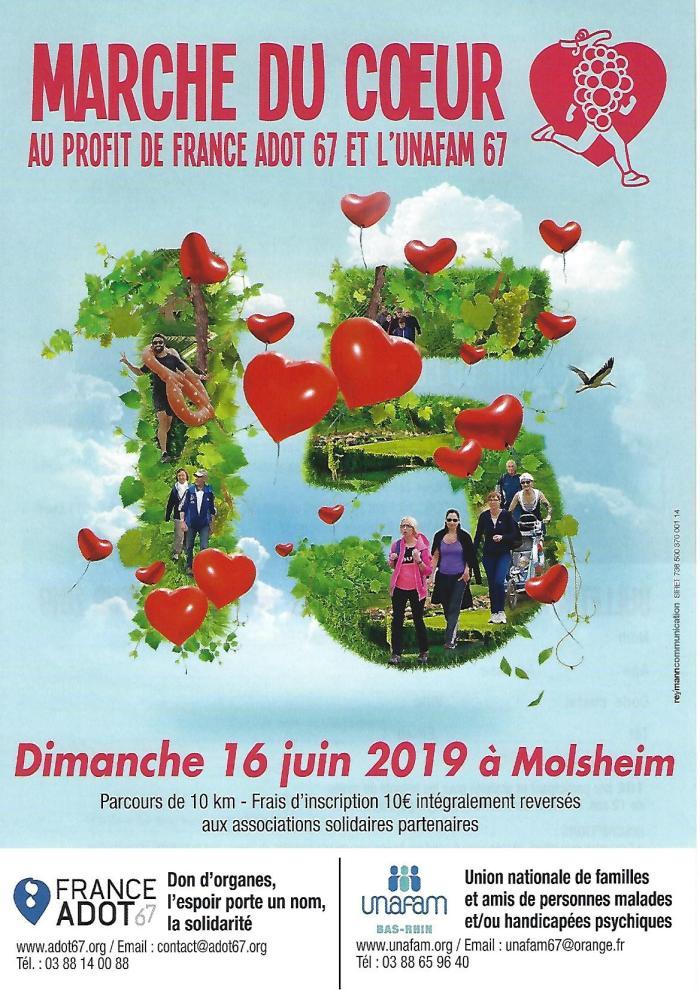 Affiche marche du coeur 2019
